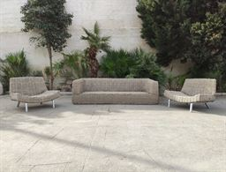 Set divani in fibra di rattan