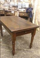 Tavolo piemontese dell'800 in legno