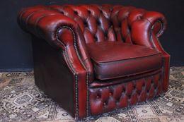 Poltrona inglese originale Chesterfield club pelle bordeaux
