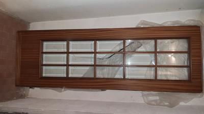 Porta da interno legno e cristallo