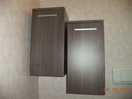 Set armadietti per bagno con specchiera