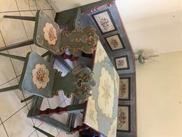 Tavolo sedie e panca in massello