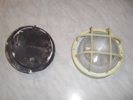 Plafoniera Circolare Stilplast base e grata plastica usata