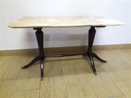 Tavolino antico con base in marmo