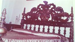 Testata letto matrimoniale in legno