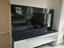 Mobile salotto soggiorno , in legno LACCATO grigio antracite
