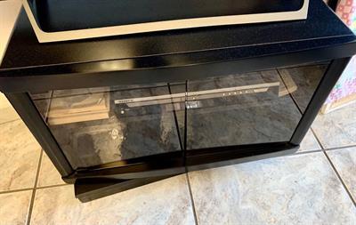 Mobiletto Porta TV/Stereo Nero Girevole