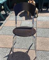 5 sedie in formica effetto legno causa