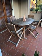 Tavolo e sedie Legno Luceda esterno