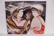 Osservando olio su tela, firmato Brescianini da Rovato