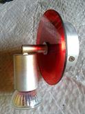 Faretto orientabile alogeno a 220 volt.