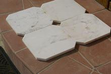 Marmo Statuario bianco ottagono 40x40x2 lucido