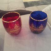 Bicchieri in vetro decorato oro