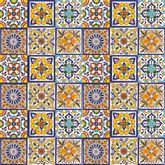 Felipe - Patchwork colorato di Piastrelle Messicane in Ceram