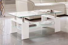 Tavolo da salotto basso in vetro