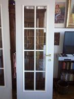 2 porte bianche in buono stato in legno