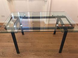 Tavolo allungabile in vetro