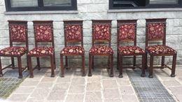 6 sedie stile rinascimento