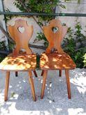 2 sedie in legno tirolesi