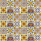 Sergio - Patchwork di Piastrelle Messicane in Ceramica