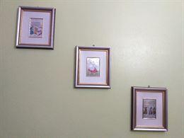 Tre quadri in cornice legno argento