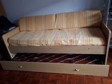 Mobile letto con secondo letto a scomparse