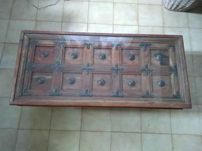 Tavolino etnico legno-ferro