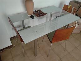 Tavolo in Vetro con 3 Sedie
