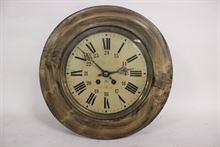 Orologio occhio di bue in legno