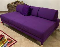 Divano letto, Vissle viola, 120 cm