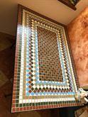 Tavolo con Ripiano in Mosaico