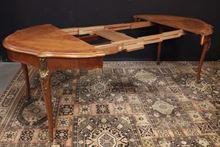 Tavolino rotondo apribile in legno decorato