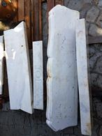 Rivestimentoesterno camino in marmo bianco di Carrara