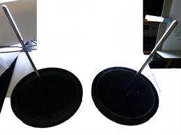 Coppia di basi e sostegni pesi avvitabili per candelabri