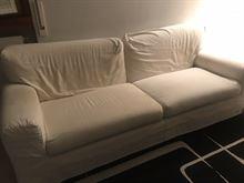 Divano Letto Sfoderabile In Tessuto - Bianco