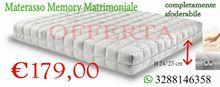 Materasso matrimoniale in memory