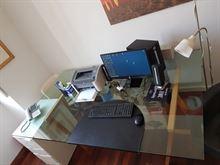 Piano in vetro scrivania