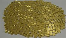 Mosaico di vetro con foglia d`oro 24 carati fatto a mano