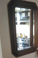 Specchio con cornice in legno adattabile