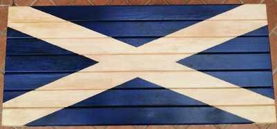 Baule scozzese dipinto a mano
