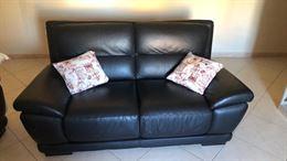 Coppia divani vera pelle
