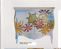 Madia Credenza cm 120x100x50 decorata a mano Artista veneto