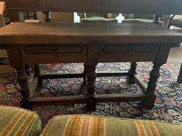 Tavolino da fumo rettangolare in legno