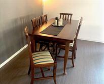 Tavolo arte povera allungabile + 6 sedie