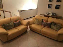 Coppia divani in pelle