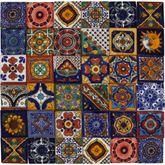 Salazar - Patchwork di Piastrelle Messicane 5x5 cm