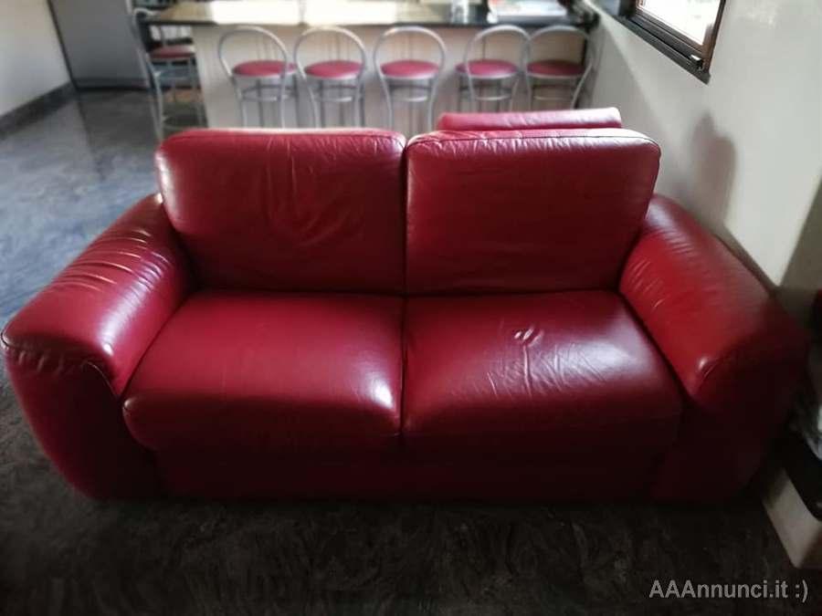 Divano 3 Posti In Pelle Doimo.Divani In Vera Pelle Doimo Sofas Made In Italy Color Rosso Latina