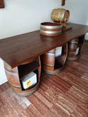 Set botti e piani in legno da arredamento