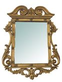 Specchio oro in legno massello intarsiato a mano