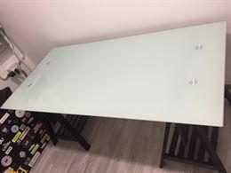 Tavolo/scrivania in vetro Galant